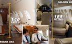 El 'falconizado' Sánchez se queja de que no cabe en el jet privado 'low cost' que le alquila el PSOE