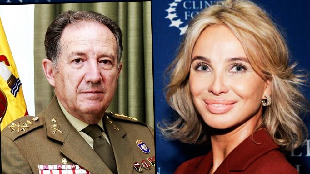 El ex jefe del CNI, general Sanz Roldán, y Corinna Sayn Wittgenstein.