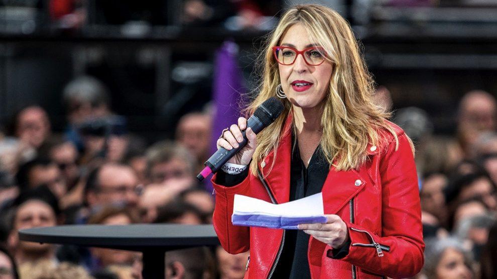 La candidata de Podemos al Parlamento europeo, María Eugenia Rodríguez Palop.