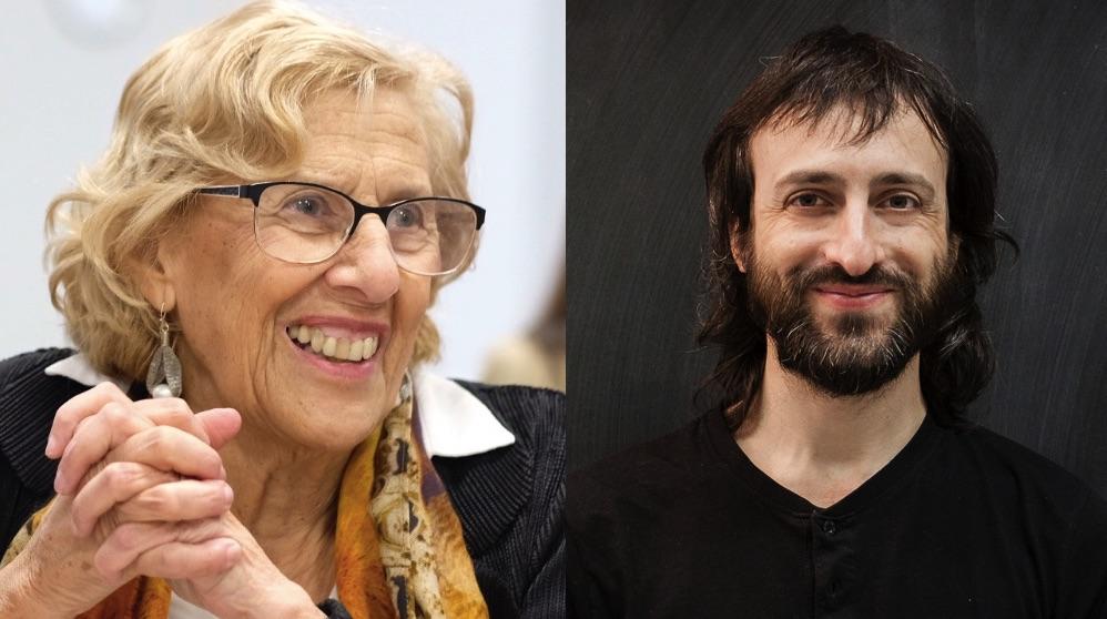 Manuela Carmena y Josua Gallego.