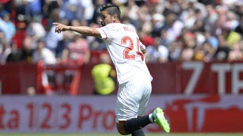 Nolito con el Sevilla (AFP)