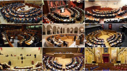 Parlamentos autonómicos que se renovarán en 2019.