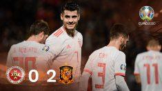 Morata hizo un doblete en el Malta-España.