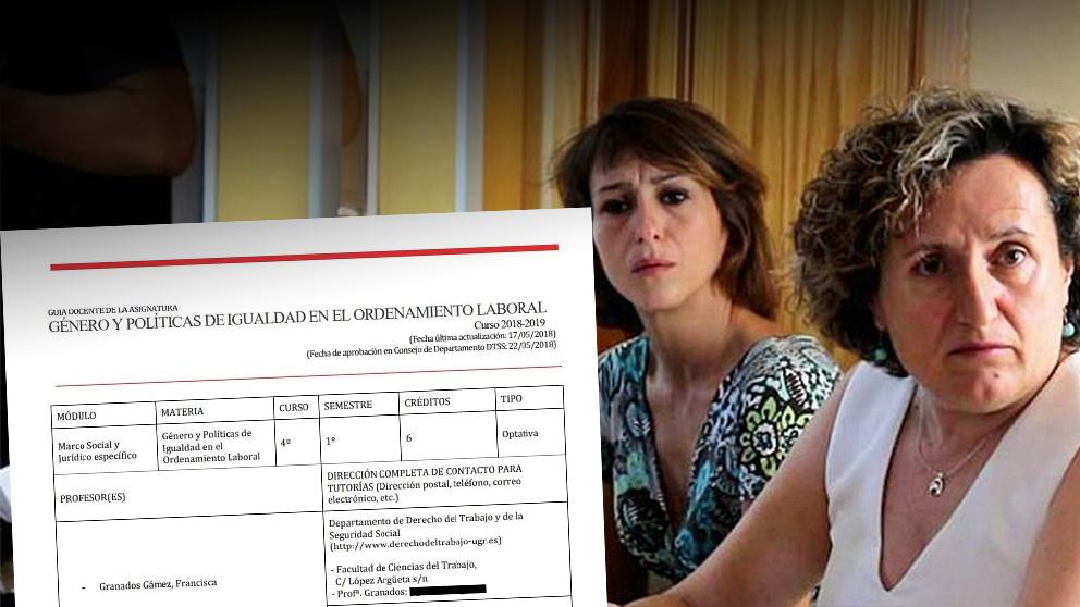 Juana Rivas junto a Francisca Granados.