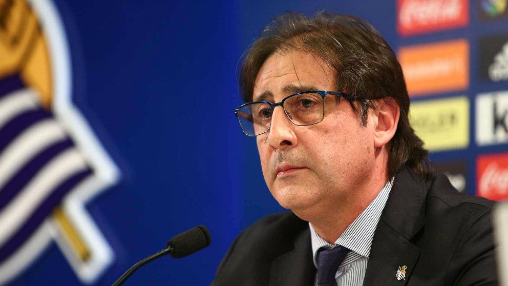 Loren como director deportivo de la Real Sociedad (Realsociedad.eus)
