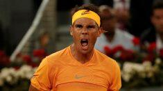Rafa Nadal celebra un punto durante la pasada edición del Mutua Madrid Open. (Getty)