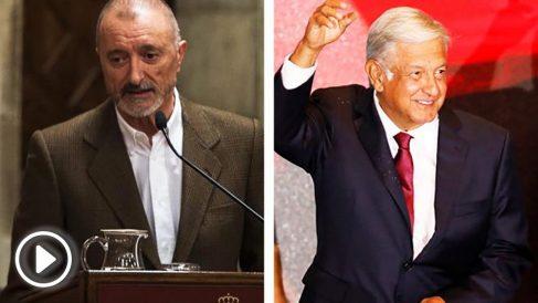 Arturo Pérez-Reverte y Andrés Manuel López Obrador