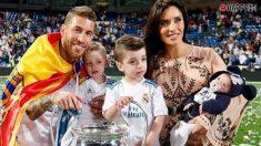 Sergio Ramos y Pilar Rubio con sus hijos