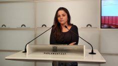 Maria Sirvent, portavoz de la formación antisistema de la CUP. Foto. EP