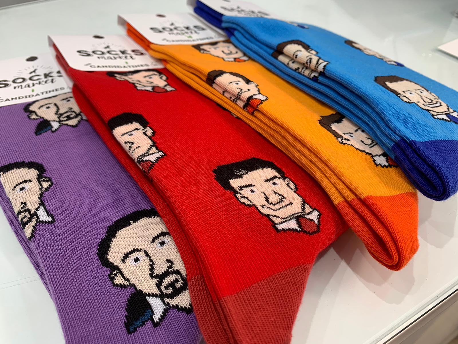Los calcetines de los candidatos. Foto: Joan Guirado