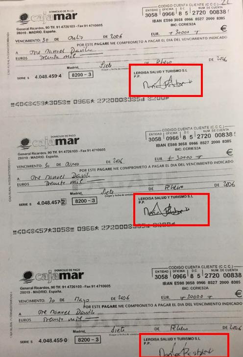 Alguno de los pagarés que María Pastor firmó pero no pagó.
