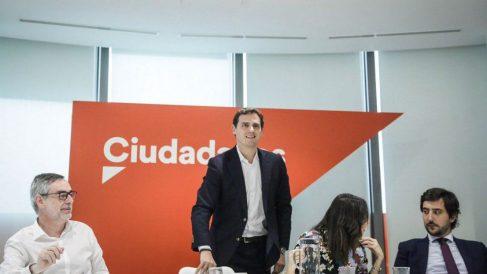 Reunión de la Ejecutiva de Ciudadanos, presidida por Albert Rivera. (Foto: EP)
