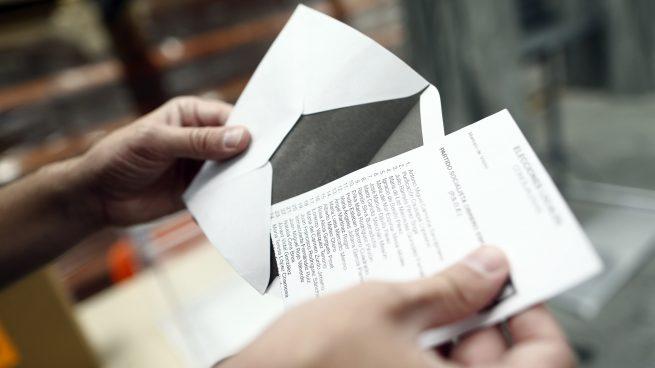 Papeleta de Elecciones Generales. Foto. EP