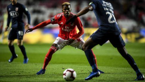Florentino Luis, en un partido con el Benfica. (AFP)
