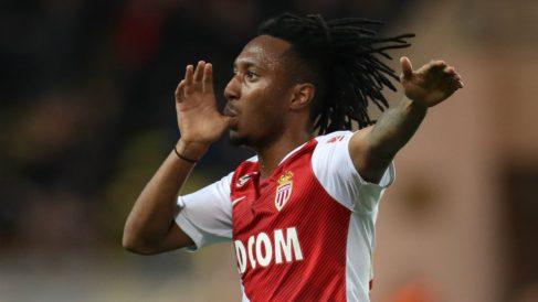 Gelson Martins celebra un gol con el Mónaco (AFP)