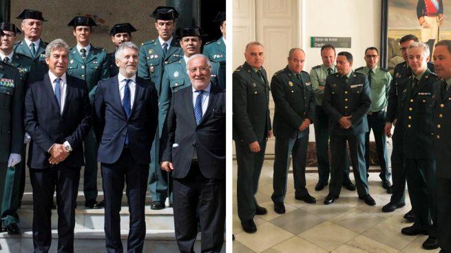 Las dos caras de Marlaska: foto con la Guardia Civil como candidato y plantón 24h después como ministro
