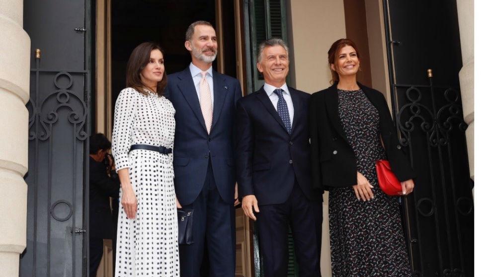 Los Reyes junto al presidente de Argentina y su esposa