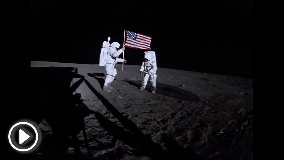 moon landing gifs find amp share on giphy - 992×558