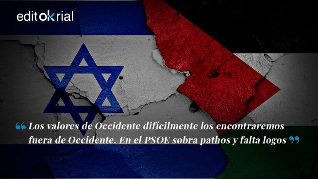 Robles, con Israel; el PSOE, con Palestina
