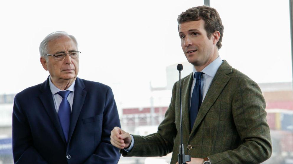 Pablo Casado y Juan José Imbroda, presidente de Melilla