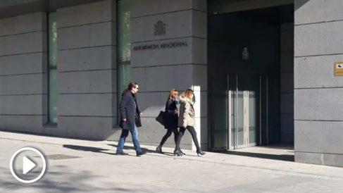 Pablo Iglesias a la entrada de la Audiencia Nacional. Foto: Europa Press