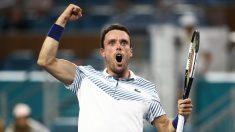 Roberto Bautista celebra un triunfo esta temporada. (AFP)