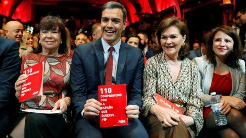 Pedro Sánchez, en la presentación del programa electoral del PSOE.