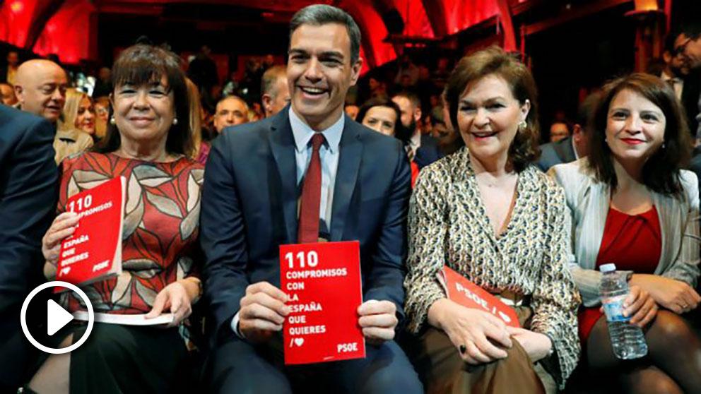 El secretario general del PSOE, Pedro Sánchez, en la presentación del programa electoral