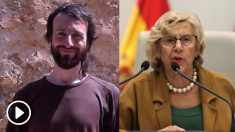 El vocal cesado y Manuela Carmena.