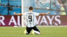 Gonzalo Higuaín, en un partido con Argentina. (Getty)