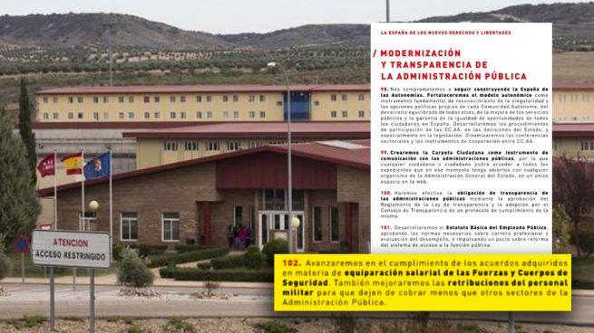 """La equiparación salarial del PSOE indigna a los funcionarios de prisiones: """"Es un desprecio"""""""