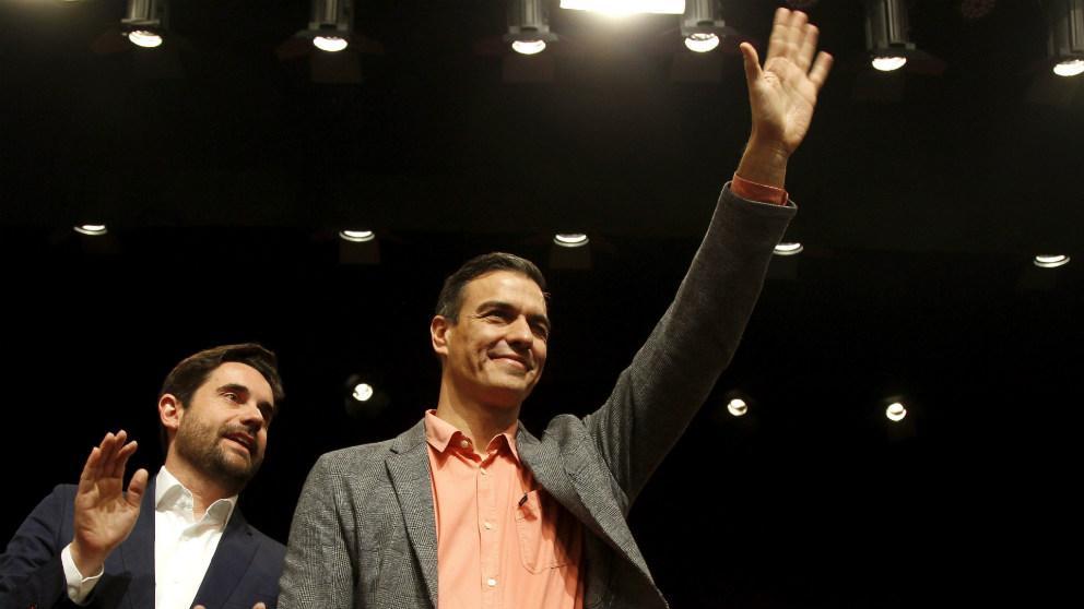 El presidente del Gobierno, Pedro Sánchez, a su llegada a un acto electoral. (EFE)
