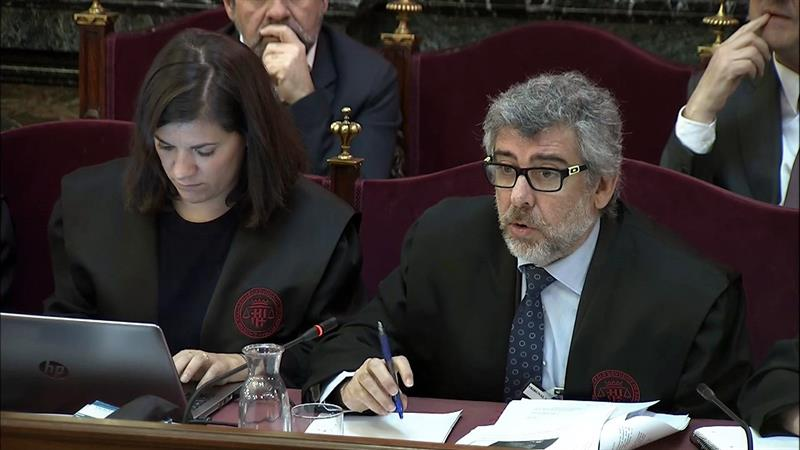 El abogado Jordi Pina durante la celebración de la sesión 24 del juicio del 1-O en el Tribunal Supremo