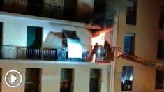 Bomberos en Arganzuela.