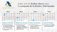 Calendario para la Declaración de la Renta 2018