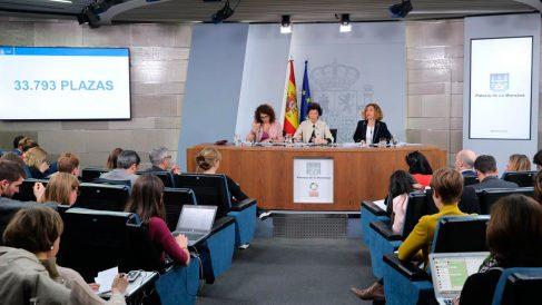 Rueda de prensa tras el Consejo de Ministros. Foto: Europa Press