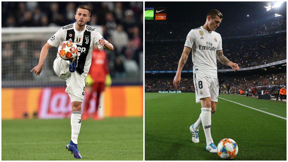 Una posible llegada de Pjanic al Real Madrid dejaría en jaque la continuidad de Kroos (Getty).