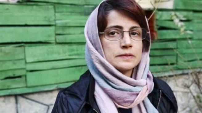 La abogadaNasrin Sotoudeh, condenada a 38 años de prisión y 148 latigazos por siete distintos cargos.