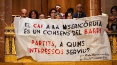 Protestas de la oposición de Colau. Foto: EP