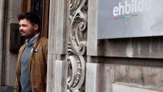 Gabriel Rufián en la sede de Eh Bildu en Bilbao. Foto:EFE