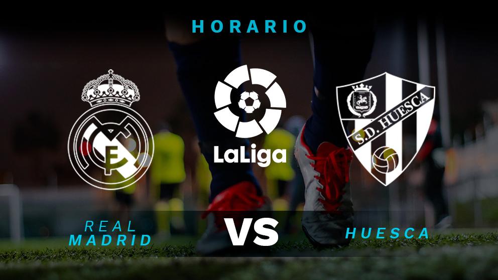 Real Madrid – Huesca: Hora y dónde ver el partido de Liga Santander.