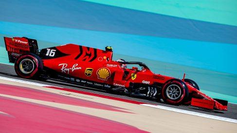 Charles Leclerc saldrá desde la pole en el Gran Premio de Bahréin. (AFP)