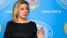 La portavoz del Ministerio de Exteriores ruso, Maria Zajarova.