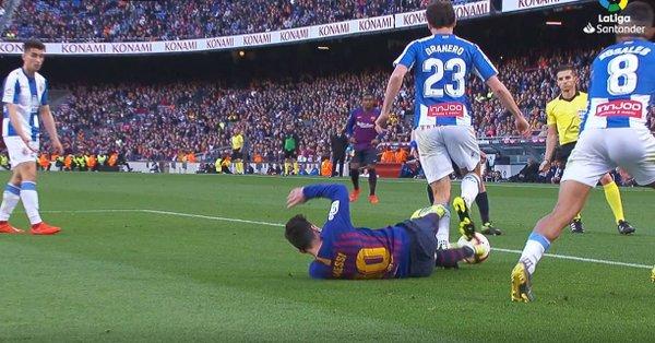 Leo Messi, en el momento de la agresión a Granero.