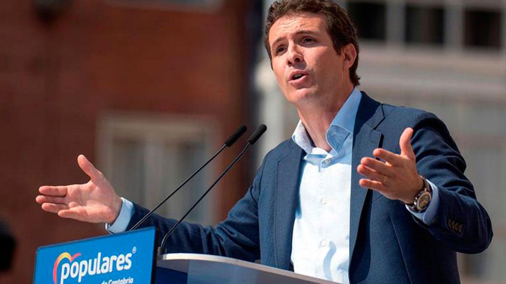 El presidente del PP. Pablo Casado.
