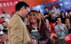 El secretario general del PSOE y presidente del Gobierno, Pedro Sánchez, y la secretaria general del PSOE-Andalucía, Susana Díaz. Foto: EFE