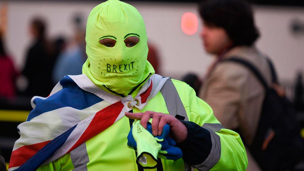 Un manifestante británico en contra del Brexit. Foto: Europa Press