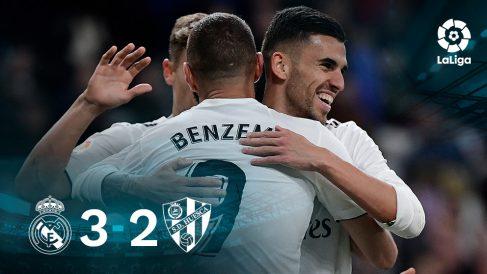 El Real Madrid venció al Huesca gracias a un gol de Benzema.