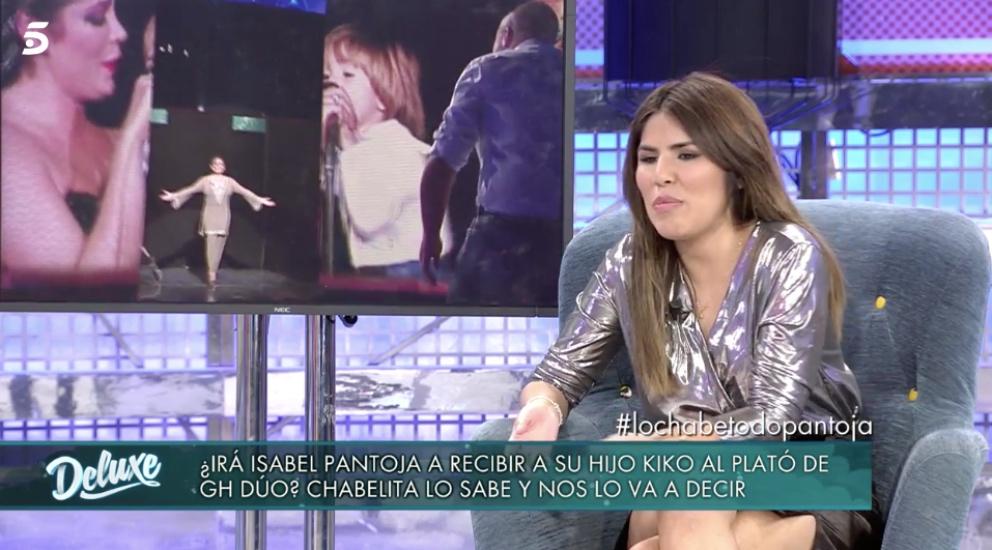 Isa Pantoja en 'Sábado Deluxe'.