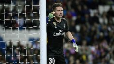 Luca Zidane, en el partido frente al Huesca. (AFP)
